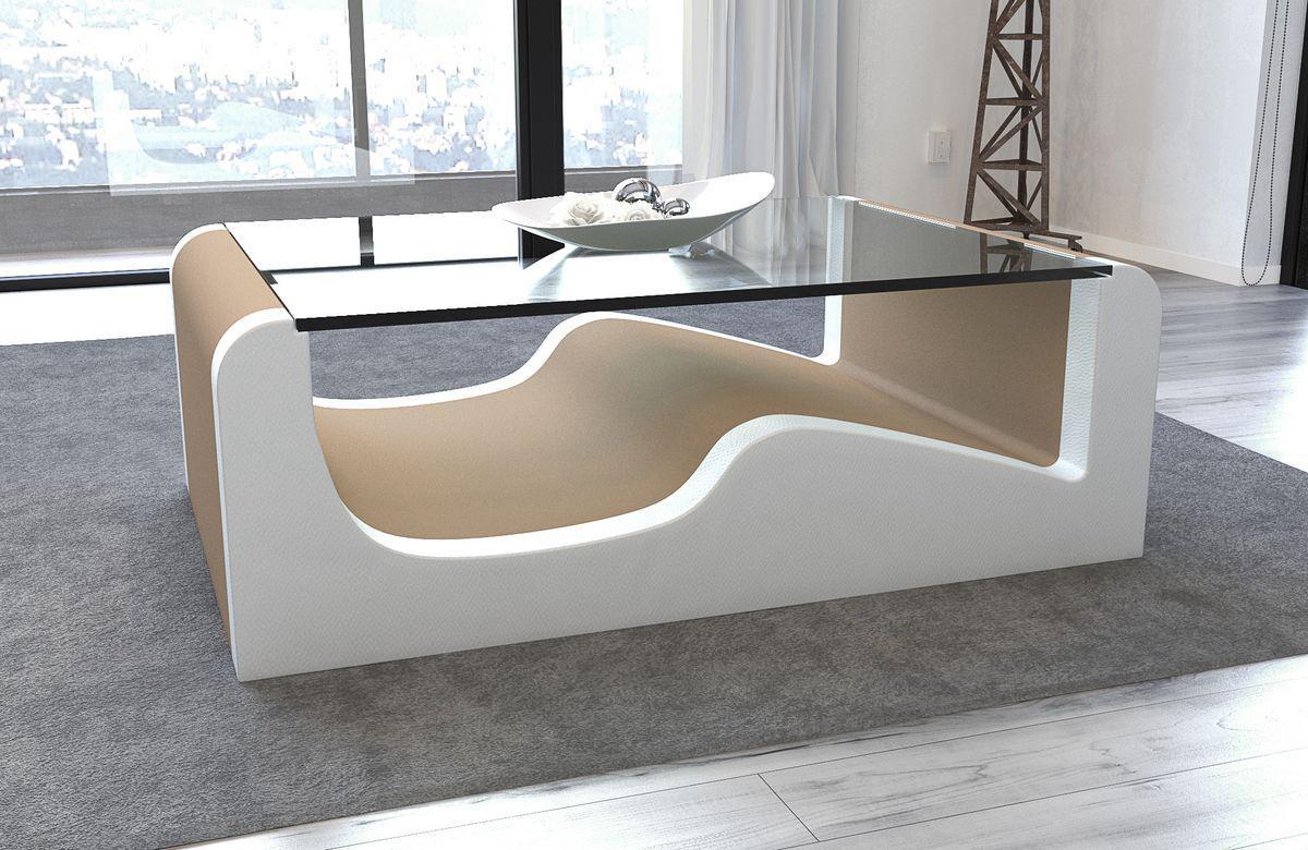 Couchtisch wave mit einer robusten glasplatte kaufen bei for Couchtisch filigran