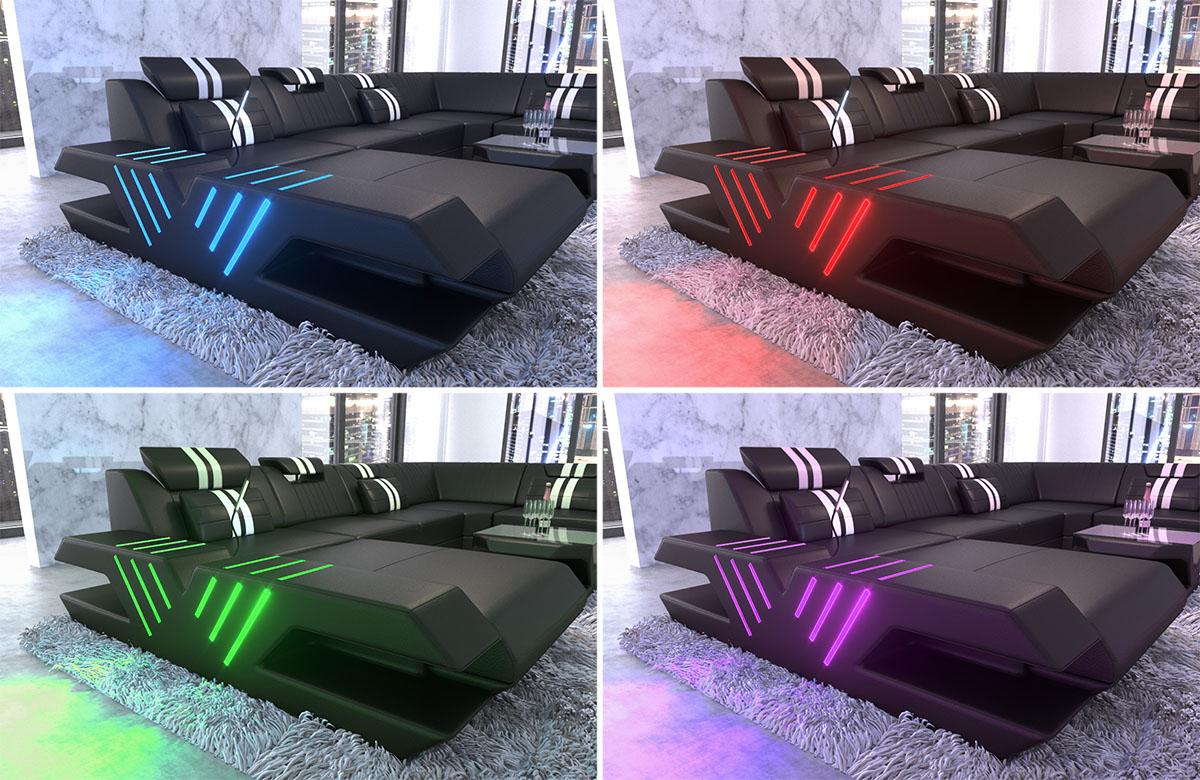 polster wohnlandschaft venedig xxl couch mit ottomane und. Black Bedroom Furniture Sets. Home Design Ideas