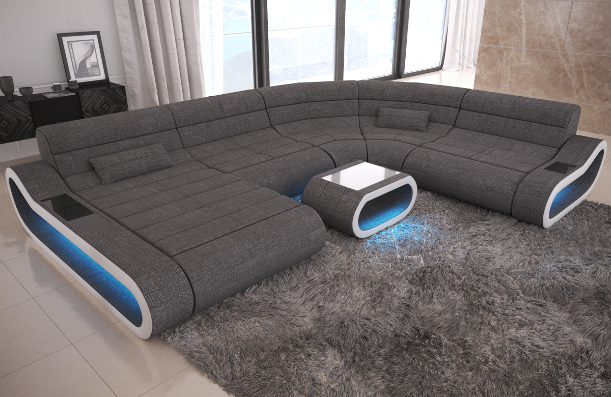 Big Sofa Concept U Form Stoff Mix XXL