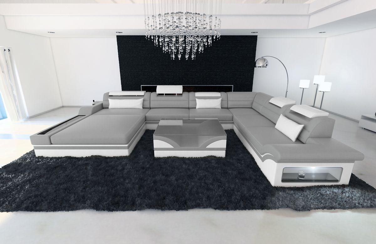 Xxl Wohnlandschaft Mezzo Grau Weiss Kaufen Bei Pmr