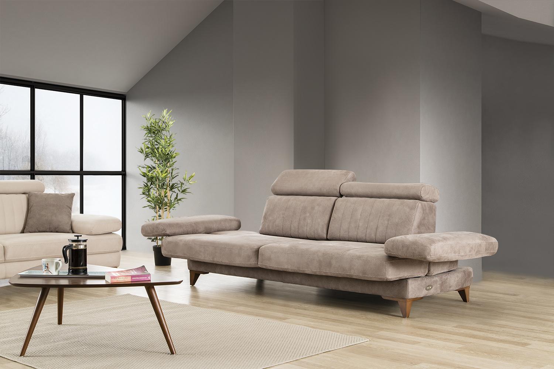Elegantes Stoff Sofa Set Erfurt 3er Und 1er Mit Relaxfunktion