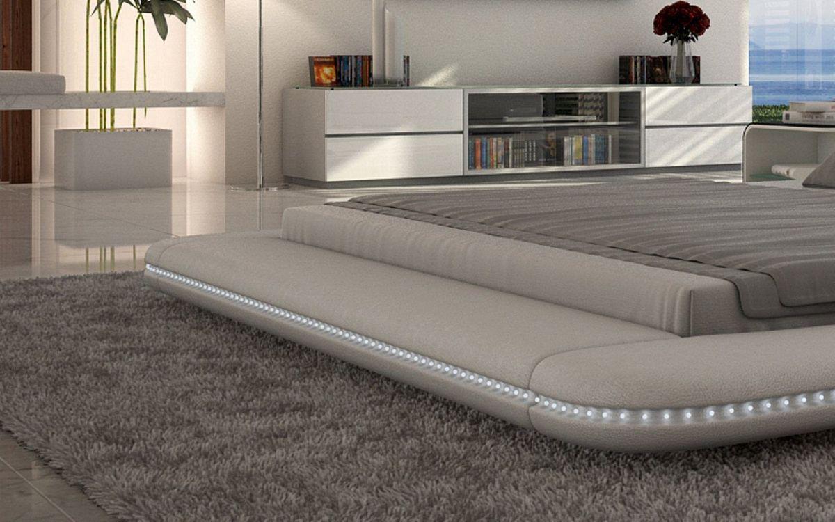 designer bett custo bettgestell mit led beleuchtung 140x200 160x200 180x200 200x200 200x220. Black Bedroom Furniture Sets. Home Design Ideas