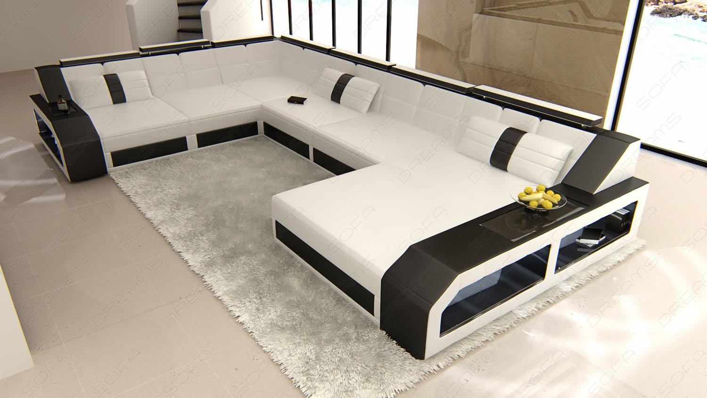 Sofa Wohnlandschaft Matera In Leder Als Xxl Version Kaufen Bei Pmr