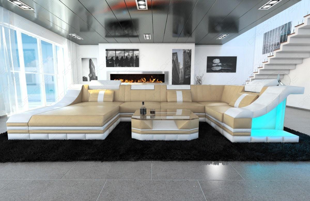 Moderne Leder Wohnlandschaft Turino In U Form Kaufen Bei Pmr