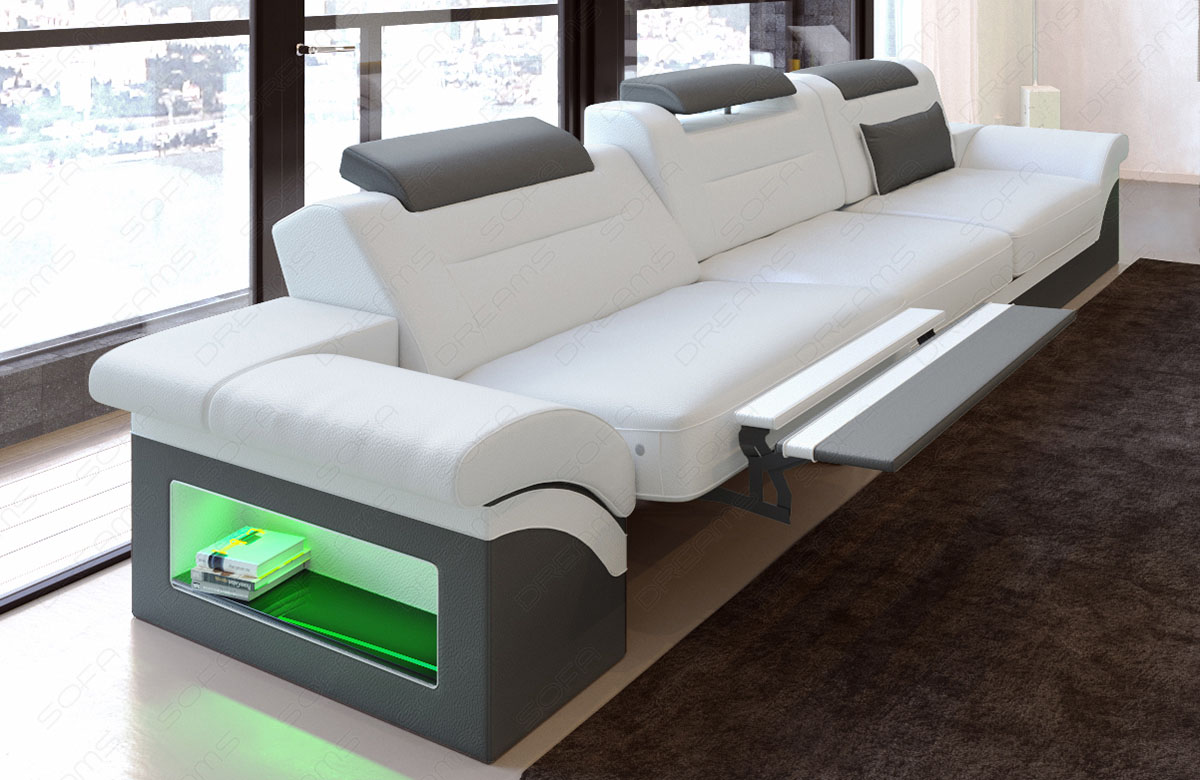 Modernes sofa monza als 3 sitzer couch mit beleuchtung - Couch beleuchtung ...