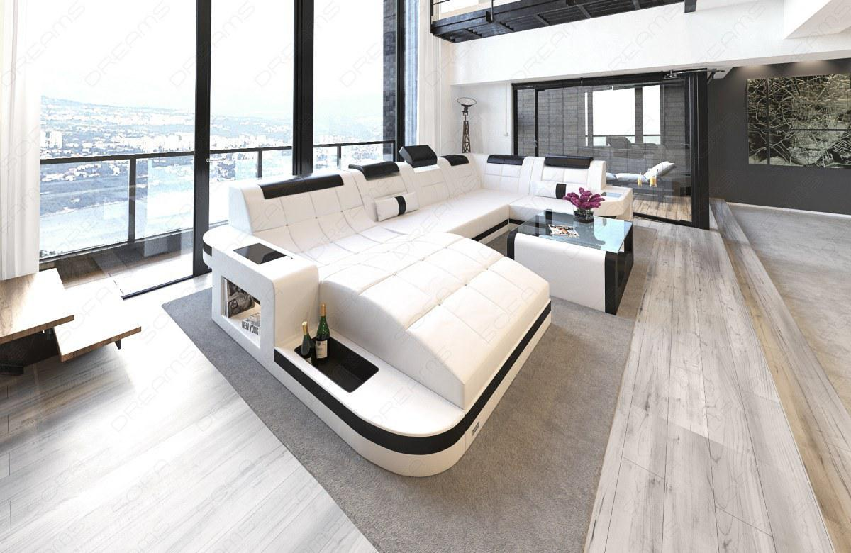Sofa Wohnlandschaft Wave In U Form Mit Relaxe Ottomane Kaufen Bei