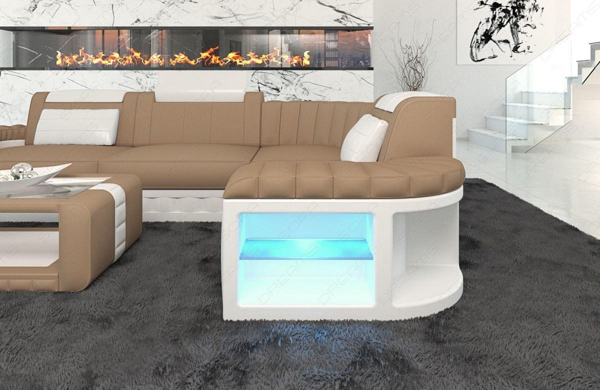 Das moderne Sofa Bergamo mit Stoffbezug in der L Form ...