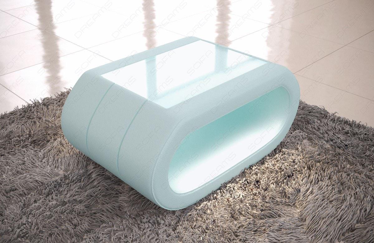 Leder Couchtisch Concept Wohnzimmertisch Mit Led Beleuchtung