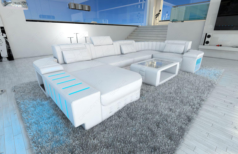 Außergewöhnlich Ledersofa Weiß Das Beste Von Design Bellagio U-form Mit Led Beleuchtung Weiss