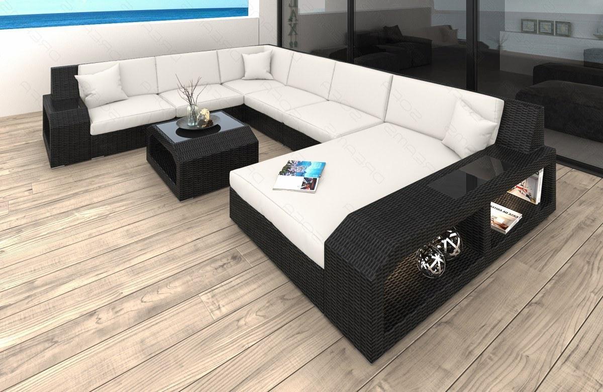Bezaubernd Wohnlandschaft U Form Xxl Foto Von Modernes Rattan Sofa Matera Als Designer 2