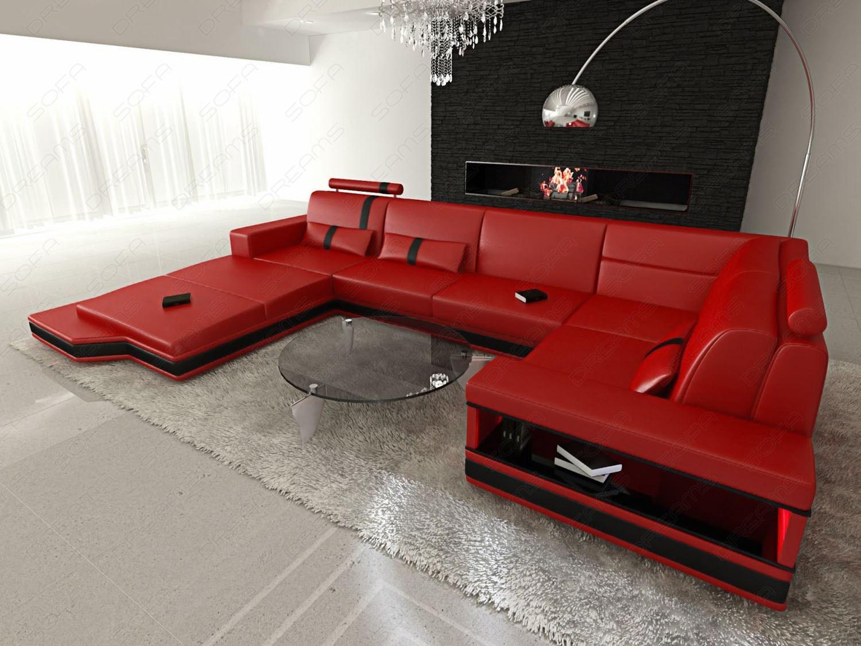 ledersofa messana in l form mit breiter ottomane kaufen. Black Bedroom Furniture Sets. Home Design Ideas
