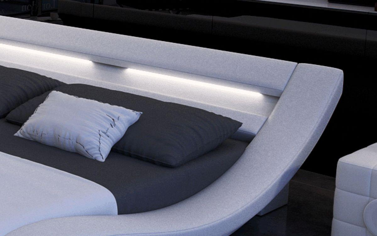 designer bett massa bettgestell mit led beleuchtung 140x200 160x200 180x200 200x200 200x220. Black Bedroom Furniture Sets. Home Design Ideas