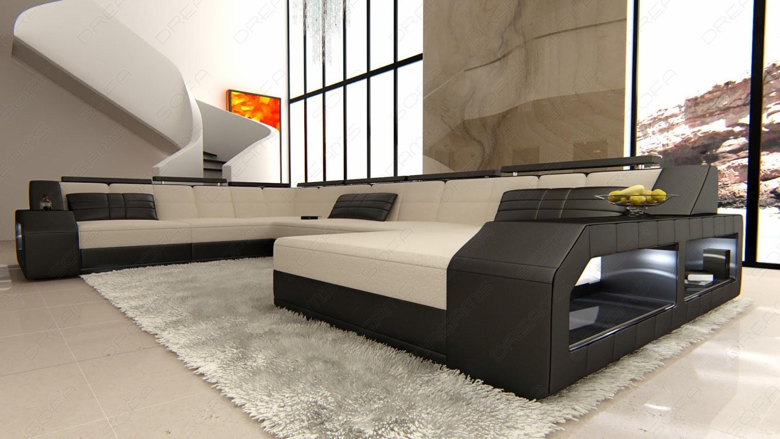 Luxus Wohnlandschaft Matera In Xxl Als Edle Stoffsofa Variante