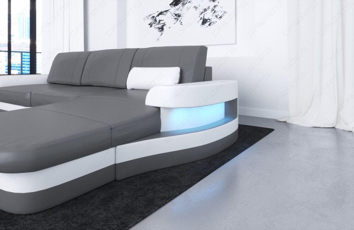 ledersofa modena in l form als modernes ecksofa mit. Black Bedroom Furniture Sets. Home Design Ideas