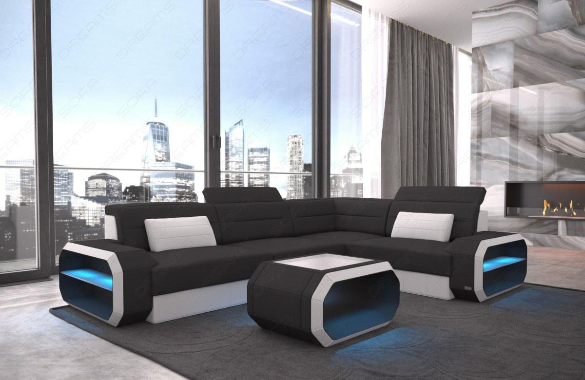 ecksofa mit led beleuchtung amazing designer sofa atlantis xxl mit led beleuchtung with ecksofa. Black Bedroom Furniture Sets. Home Design Ideas