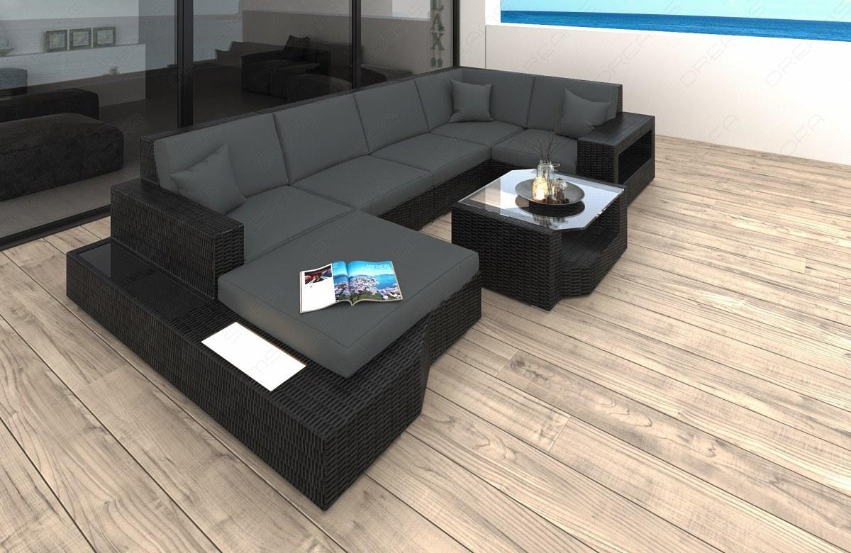 Sofa Wohnlandschaft Messana Aus Rattan In Der U Form Kaufen Bei