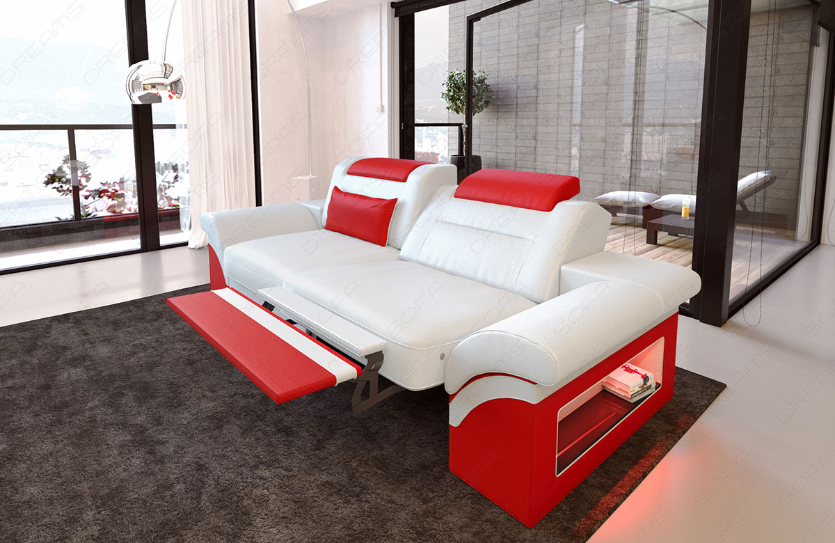 modernes sofa monza als 2 sitzer couch mit beleuchtung. Black Bedroom Furniture Sets. Home Design Ideas
