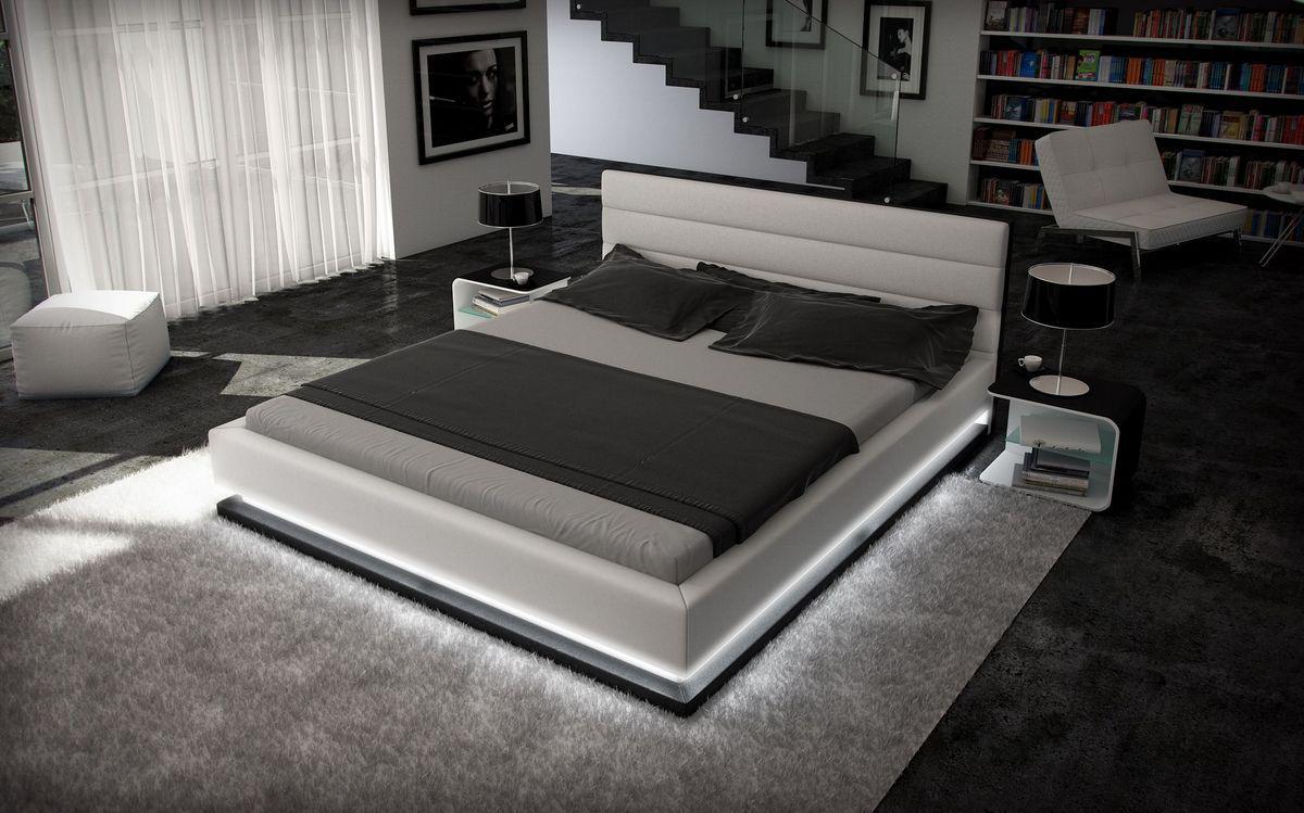 Designer Bett 160X200 | Designer Bett Moonlight Bettgestell Mit Led Beleuchtung 140x200