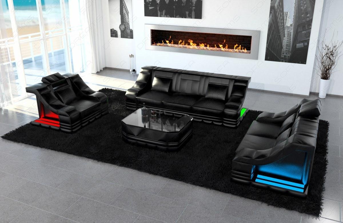 Designer Sofa Garnitur Turino 3 Sitzer 2 Sitzer Sofas Und Sessel