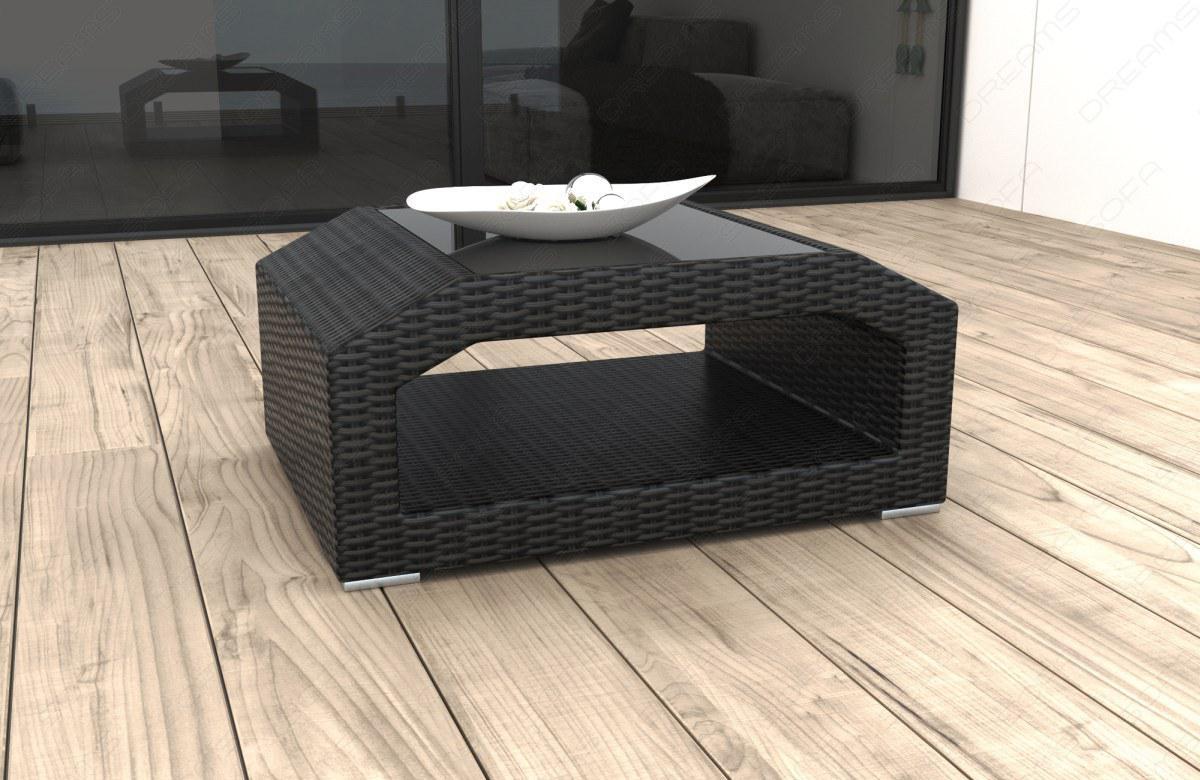 Designer Rattan Tisch Matera Für Garten Und Terrasse Kaufen Bei