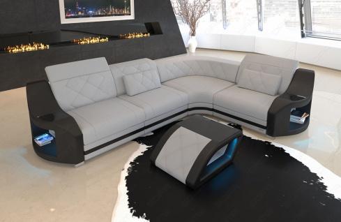 elegante Sofa Couch Genau in L Form mit Chesterfield Steppung - Vorschau 5