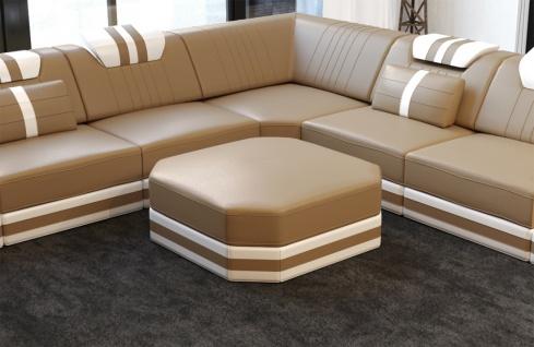 Design Leder Hocker Ragusa