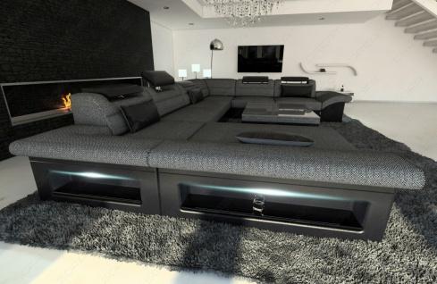 Luxus Wohnlandschaft Enzo als XXL Stoffsofa mit Funktionen - Vorschau 4