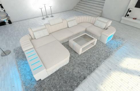 Luxus Wohnlandschaft Bellagio als U Form Stoffsofa mit Funktionen