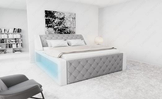 Modernes Designerbett Arezzo mit LED Beleuchtung - Vorschau 5