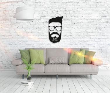 Metall Wandbild - Beard Answer