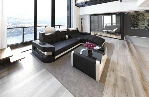 ledersofa wave l form schwarz weiss kaufen bei pmr handelsgesellschaft mbh. Black Bedroom Furniture Sets. Home Design Ideas