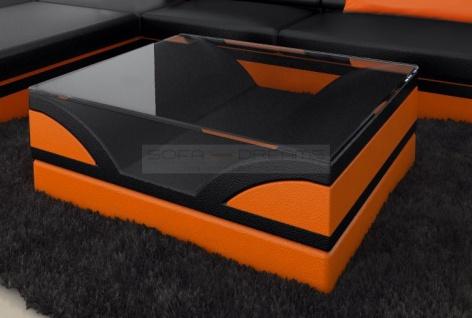 Glastisch Monza als moderner Couchtisch zu ihrem Sofa - Vorschau 2