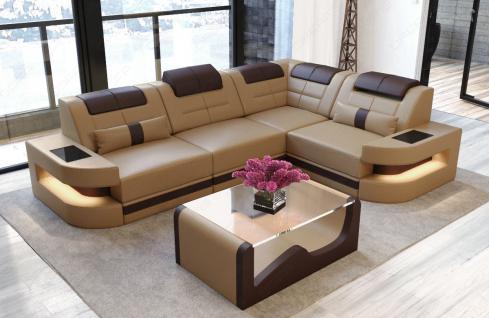 Designersofa Como in der L Form mit Leder - Vorschau 4