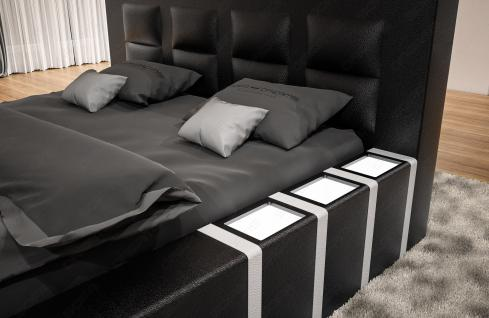Luxus Designerbett Asti mit Beleuchtung in Boxspring Optik - Vorschau 4