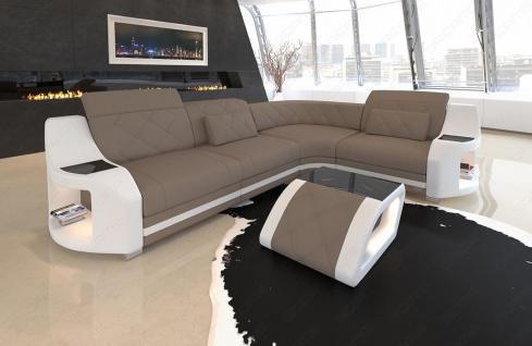 elegante Sofa Couch Genau in L Form mit Chesterfield Steppung - Vorschau 2