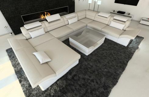 Luxus Wohnlandschaft Enzo als XXL Stoffsofa mit Funktionen