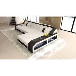 sofa arezzo l form weiss schwarz kaufen bei pmr handelsgesellschaft mbh. Black Bedroom Furniture Sets. Home Design Ideas