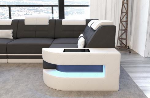 Modernes Stoffcouch Como in L Form mit LED Licht - Vorschau 2