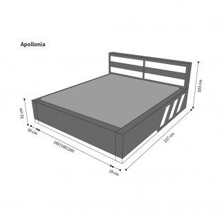 Design Komplettbett Apollonia inklusive Matratze und Lattenrost - Vorschau 3