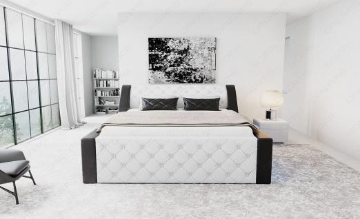 Modernes Designerbett Arezzo mit LED Beleuchtung - Vorschau 3