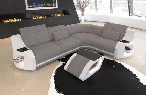 elegante Sofa Couch Genau in L Form mit Chesterfield Steppung