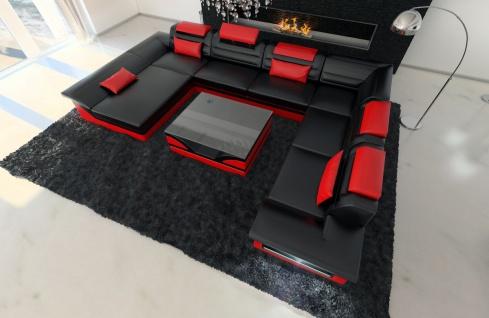 XXL Wohnlandschaft Enzo schwarz-rot