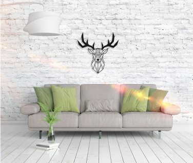 Metall Wandbild - Deer Head - Vorschau