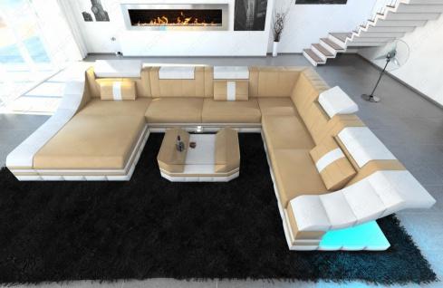Sofa Wohnlandschaft Turino als XXL mit Leder bezogen - Vorschau 2