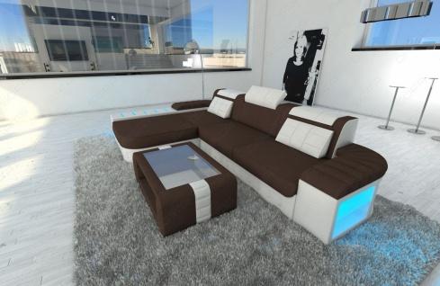 Polster Couch Bellagio in der L Form mit edler LED Beleuchtung - Vorschau 4