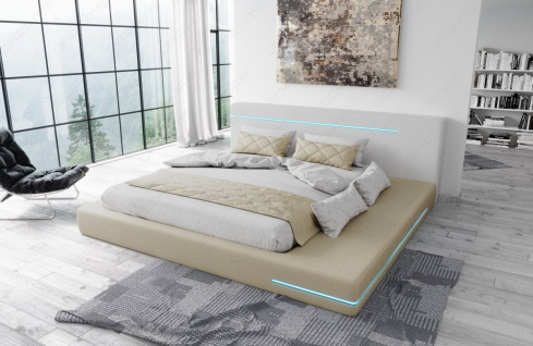 Modernes Designerbett Rimini mit LED Beleuchtung - Vorschau 3