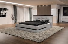 Luxus Doppelbett Asti - Das moderne Designerbett in weiss-schwarz