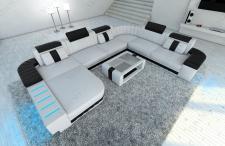 Design Wohnlandschaft Bellagio als XXL Version mit Bettfunktion