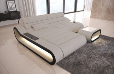 Stoff Couch Concept in der L Form mit LED Lampen