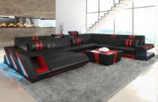Design Wohnlandschaft Apollonia in XXL auch mit Bettfunktion